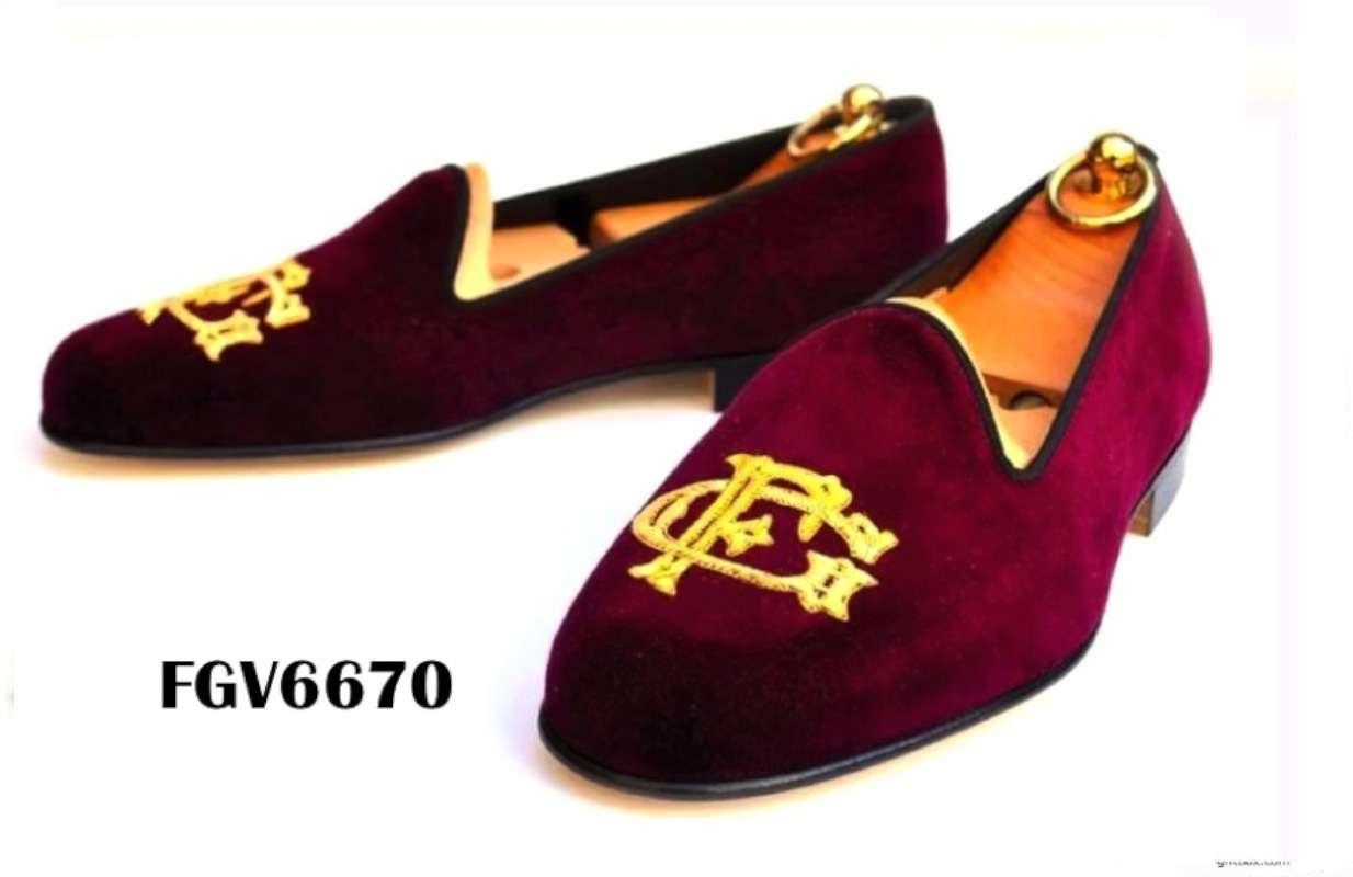 Custom Velvet slippers - New and
